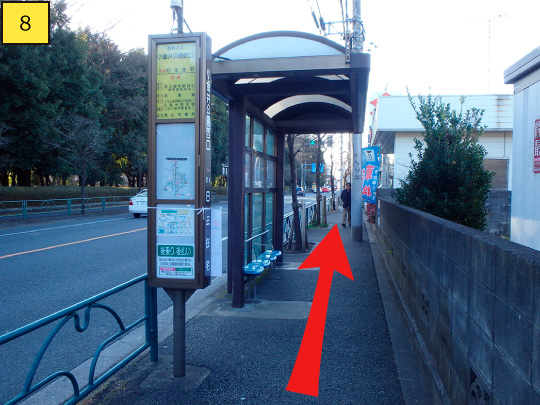 ⑧Get off and go to Musashi-koganei station(Left).